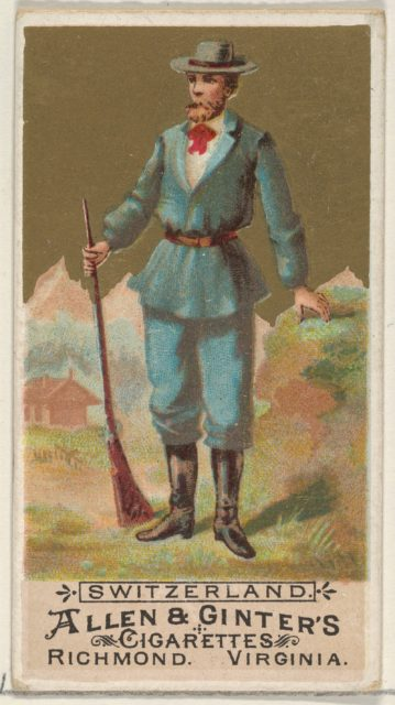 Switzerland, from the Natives in Costume series (N16) for Allen & Ginter Cigarettes Brands