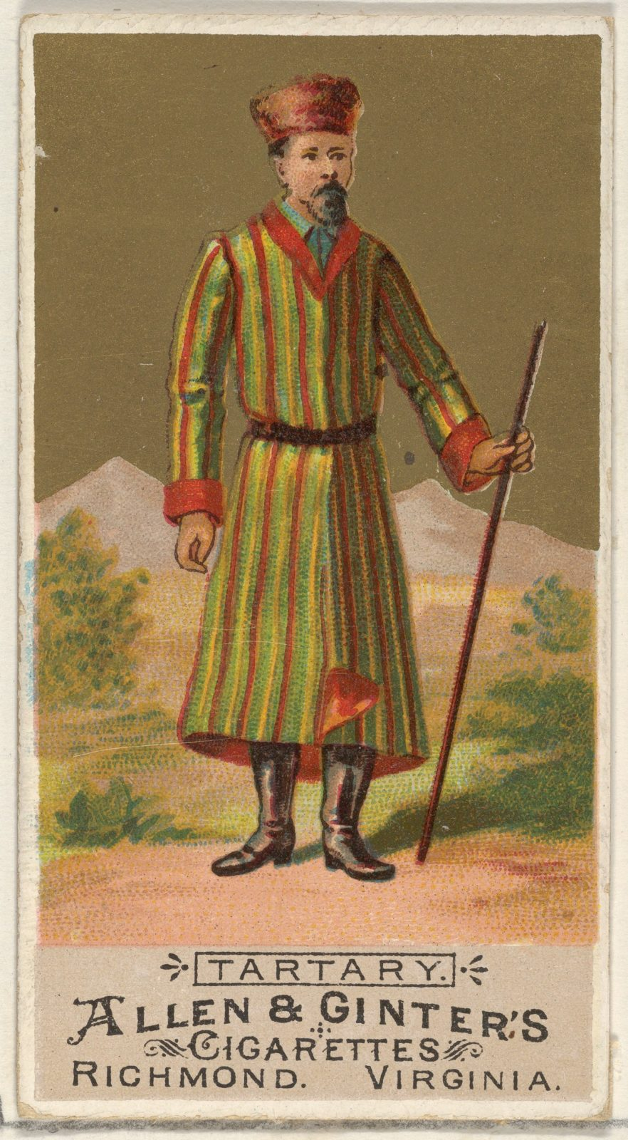 Tartary, from the Natives in Costume series (N16) for Allen & Ginter Cigarettes Brands