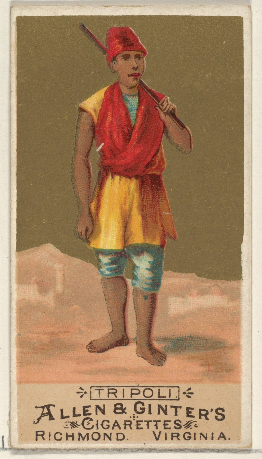Tripoli, from the Natives in Costume series (N16) for Allen & Ginter Cigarettes Brands