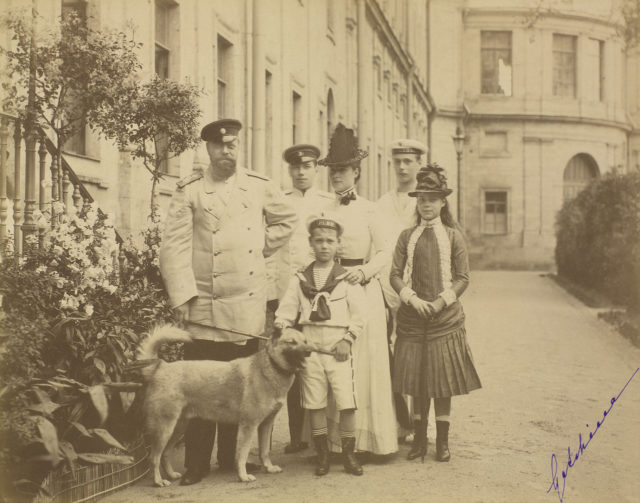 Alexander III and his family in the Gatchina Palace
