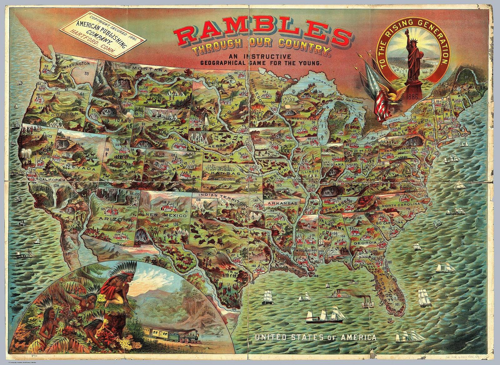 Rambles Through Our Country - An Instructive Geographical Game for the Young (1886)