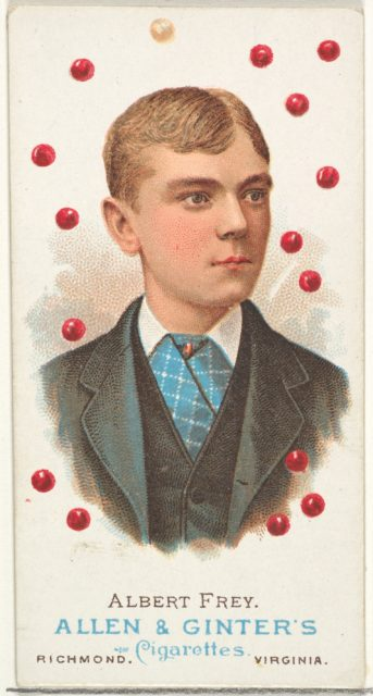 Albert Frey, Pool Player, from World's Champions, Series 1 (N28) for Allen & Ginter Cigarettes