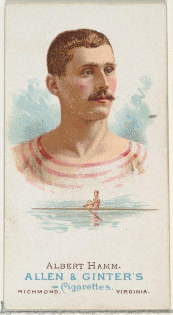 Albert Hamm, Oarsman, from World's Champions, Series 1 (N28) for Allen & Ginter Cigarettes