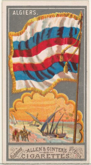 Algiers, from the City Flags series (N6) for Allen & Ginter Cigarettes Brands