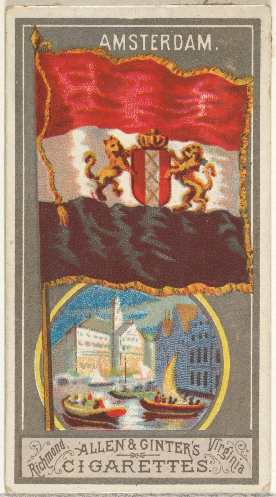 Amsterdam, from the City Flags series (N6) for Allen & Ginter Cigarettes Brands