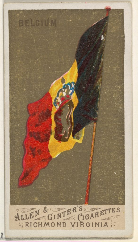 Belgium, from Flags of All Nations, Series 1 (N9) for Allen & Ginter Cigarettes Brands