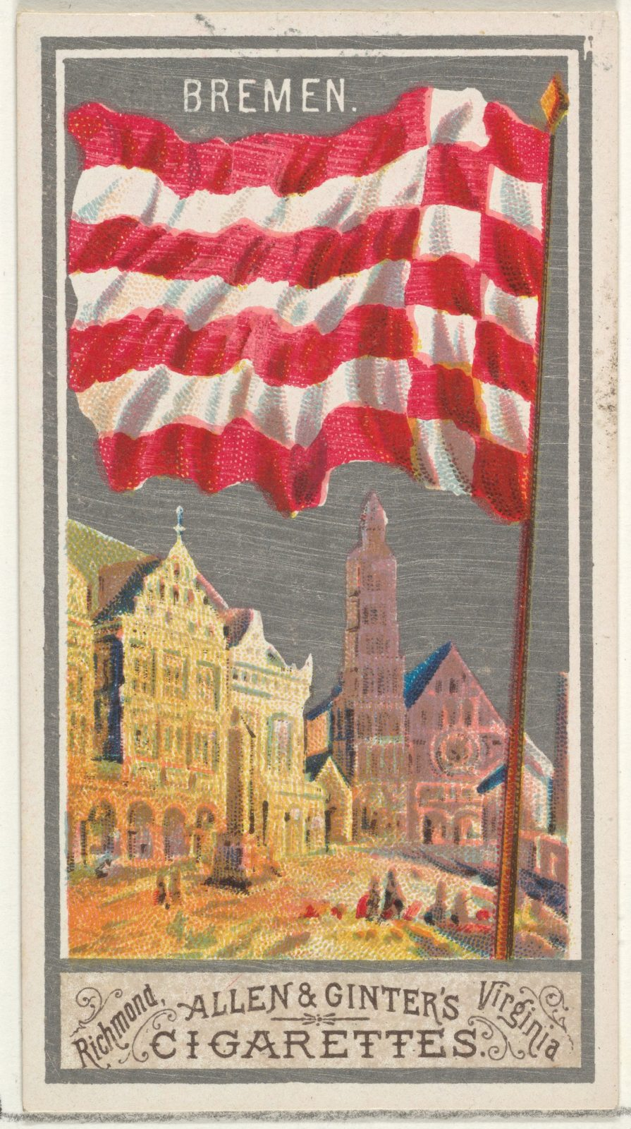 Bremen, from the City Flags series (N6) for Allen & Ginter Cigarettes Brands