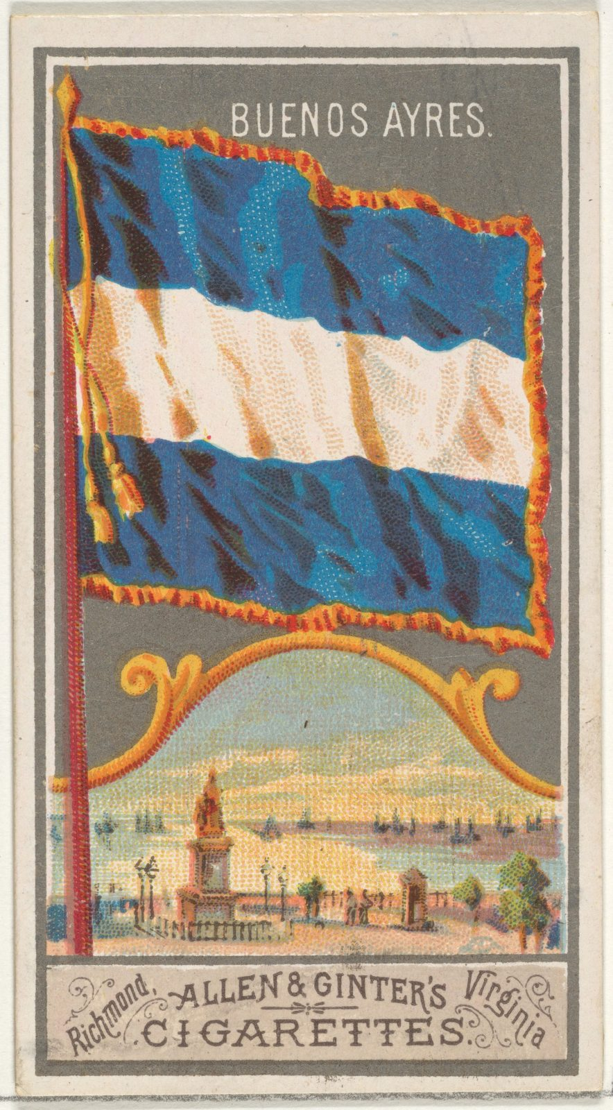 Buenos Aires, from the City Flags series (N6) for Allen & Ginter Cigarettes Brands