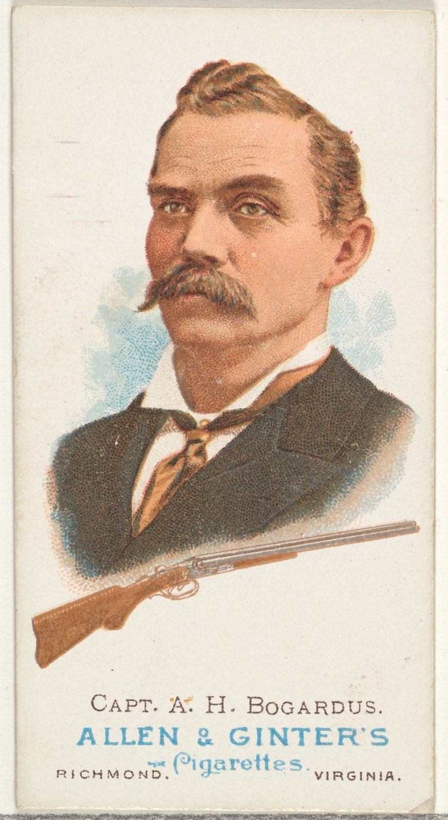 Captain Adam Henry Bogardus, Rifle Shooter, from World's Champions, Series 1 (N28) for Allen & Ginter Cigarettes
