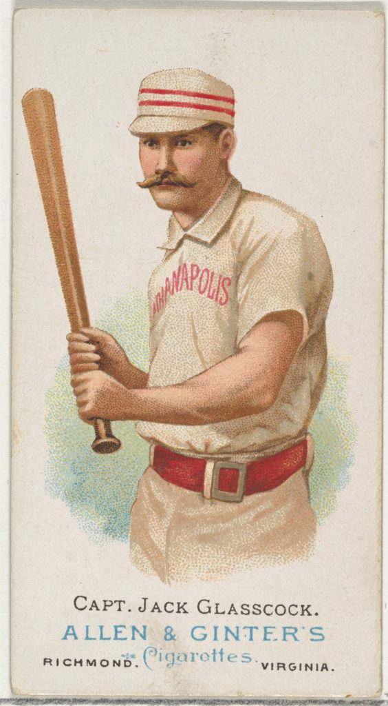 Captain Jack Glasscock, Baseball Player, from World's Champions, Series 1 (N28) for Allen & Ginter Cigarettes