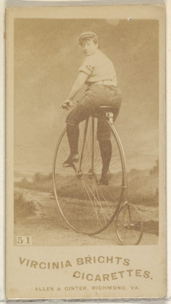 Card 51, from the Girl Cyclists series (N49) for Virginia Brights Cigarettes