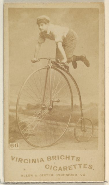 Card 66, from the Girl Cyclists series (N49) for Virginia Brights Cigarettes