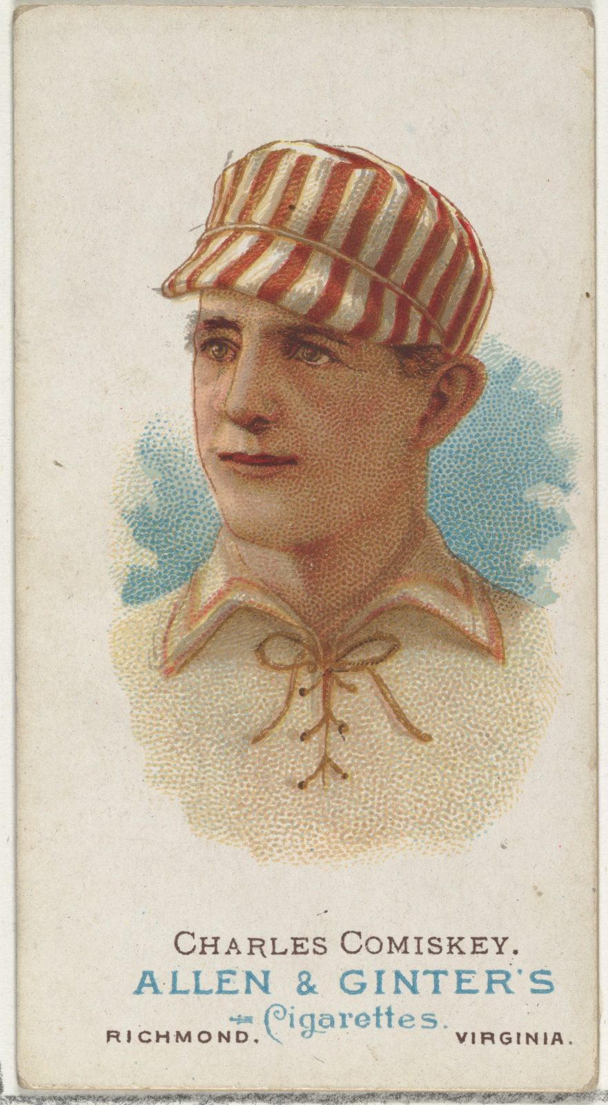 Charles Comiskey, Baseball Player, from World's Champions, Series 1 (N28) for Allen & Ginter Cigarettes
