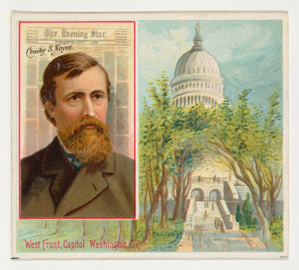 Crosby S. Noyes, The Washington Evening Star, from the American Editors series (N35) for Allen & Ginter Cigarettes
