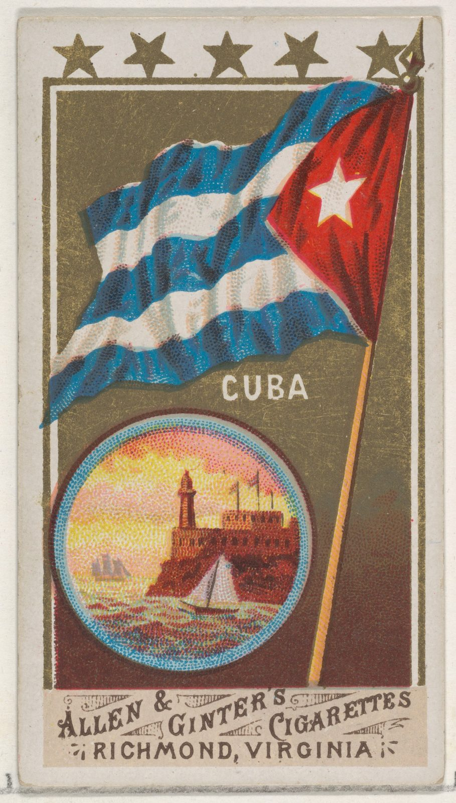 Cuba, from Flags of All Nations, Series 1 (N9) for Allen & Ginter Cigarettes Brands