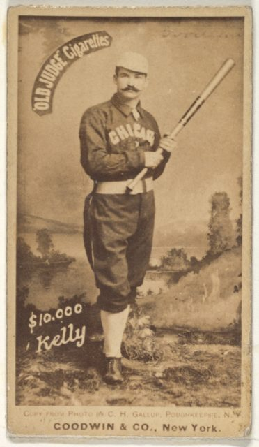 """""""$10,000"""" Kelly, Chicago, from the Old Judge series (N172) for Old Judge Cigarettes"""