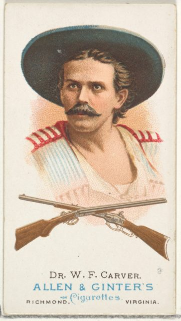 Dr. William Frank Carver, Rifle Shooter, from World's Champions, Series 1 (N28) for Allen & Ginter Cigarettes