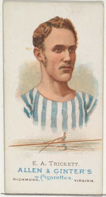 E.A. Trickett, Oarsman, from World's Champions, Series 1 (N28) for Allen & Ginter Cigarettes
