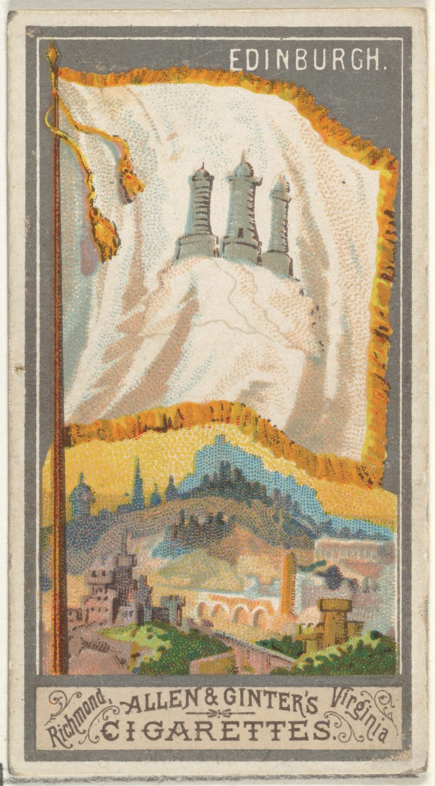 Edinburgh, from the City Flags series (N6) for Allen & Ginter Cigarettes Brands