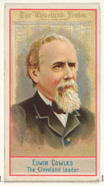 Edwin Cowles, The Cleveland Leader, from the American Editors series (N1) for Allen & Ginter Cigarettes Brands