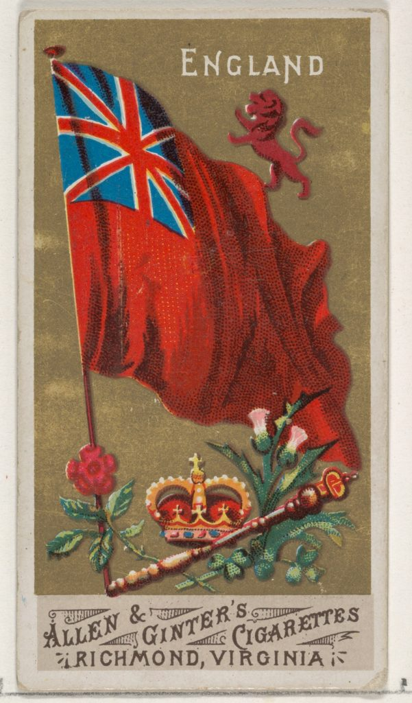 England, from Flags of All Nations, Series 1 (N9) for Allen & Ginter Cigarettes Brands