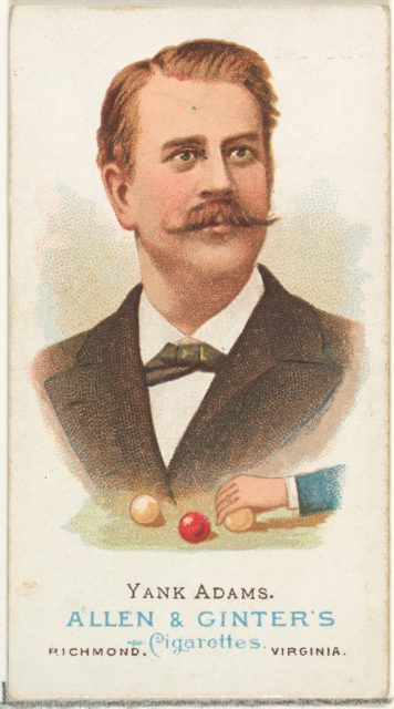"""Frank B. """"Yank"""" Adams, Billiard Player, from World's Champions, Series 1 (N28) for Allen & Ginter Cigarettes"""