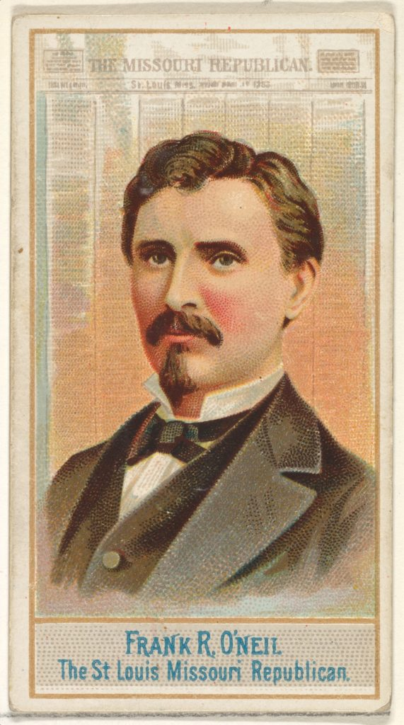 Frank R. O'Neil, The St. Louis Missouri Republican, from the American Editors series (N1) for Allen & Ginter Cigarettes Brands