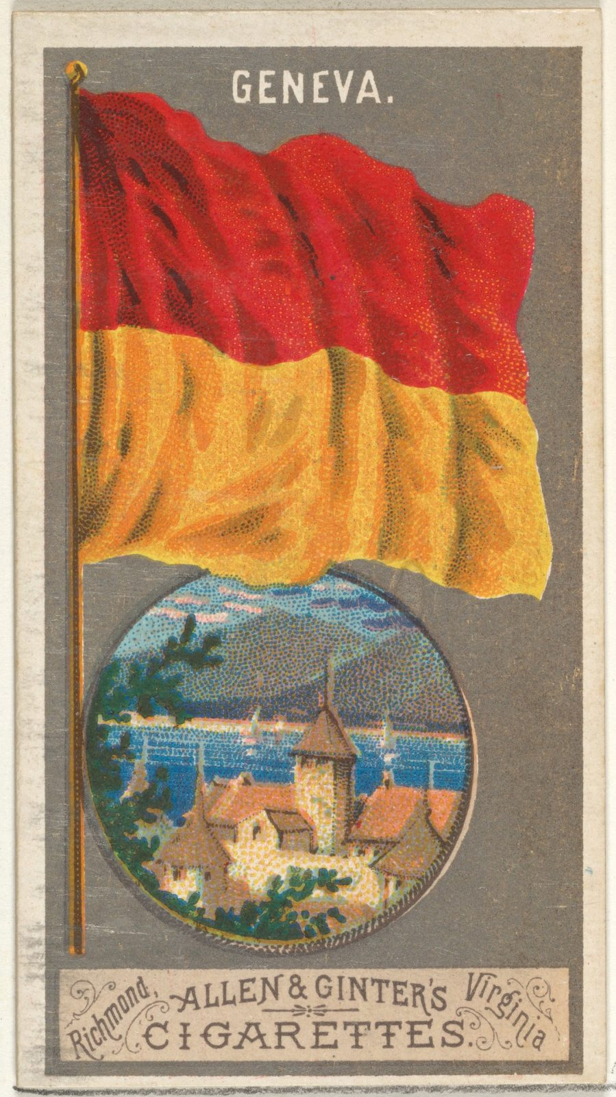 Geneva, from the City Flags series (N6) for Allen & Ginter Cigarettes Brands