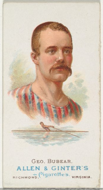 George Bubear, Oarsman, from World's Champions, Series 1 (N28) for Allen & Ginter Cigarettes