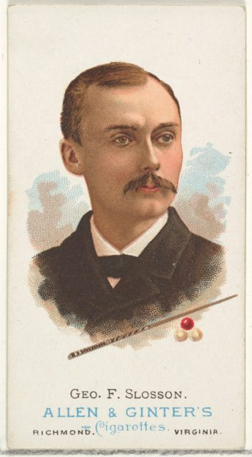 George F. Slosson, Billiard Player, from World's Champions, Series 1 (N28) for Allen & Ginter Cigarettes