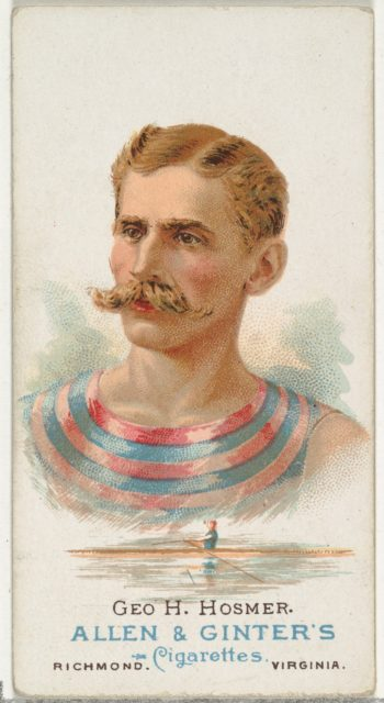 George H. Hosmer, Oarsman, from World's Champions, Series 1 (N28) for Allen & Ginter Cigarettes
