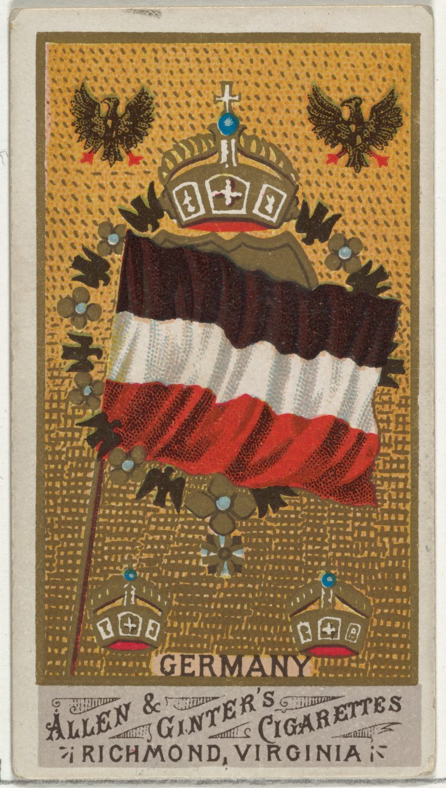 Germany, from Flags of All Nations, Series 1 (N9) for Allen & Ginter Cigarettes Brands