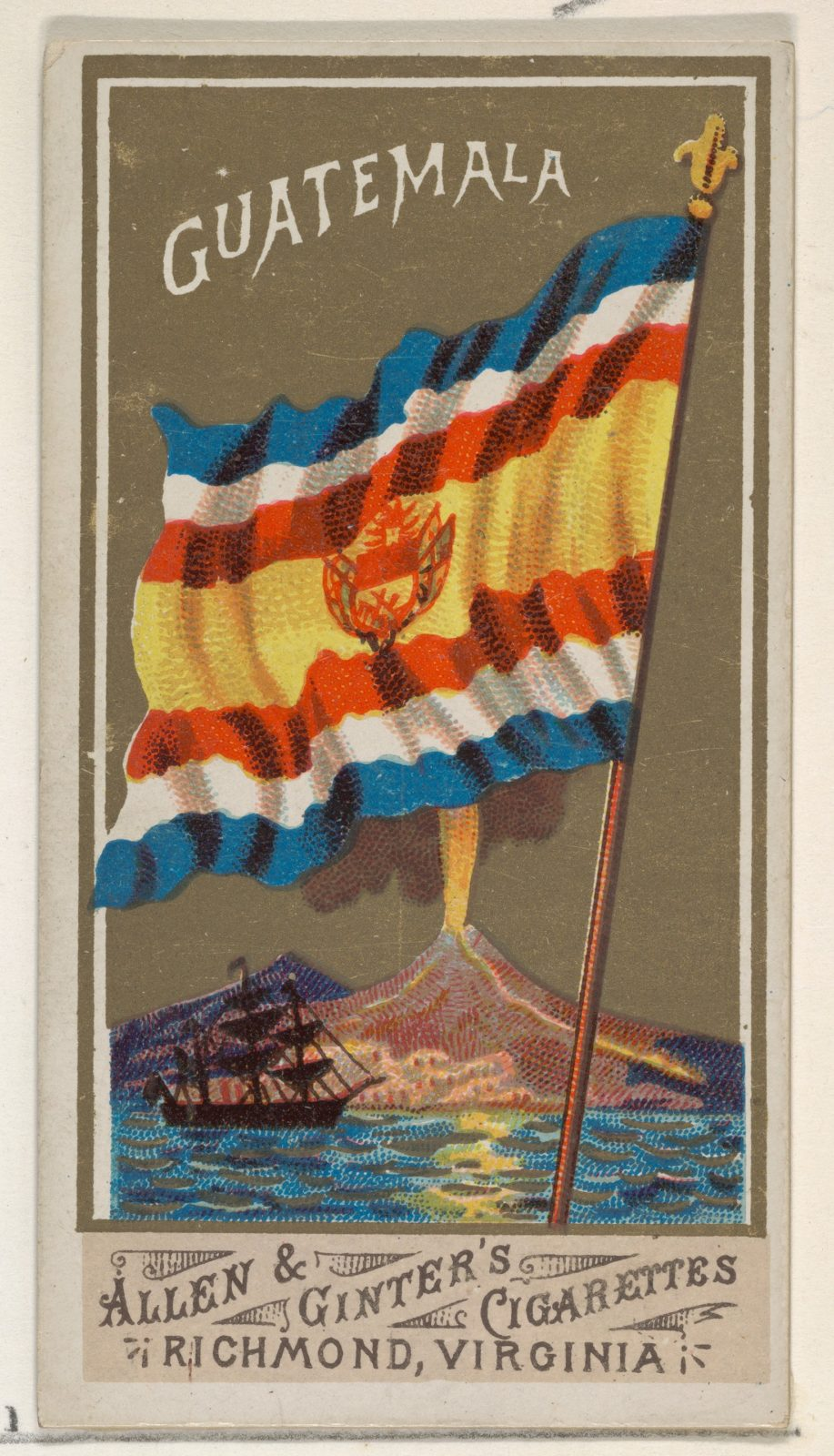 Guatemala, from Flags of All Nations, Series 1 (N9) for Allen & Ginter Cigarettes Brands