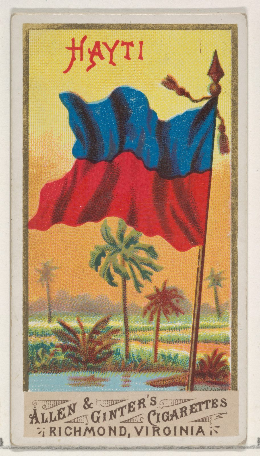 Haiti, from Flags of All Nations, Series 1 (N9) for Allen & Ginter Cigarettes Brands