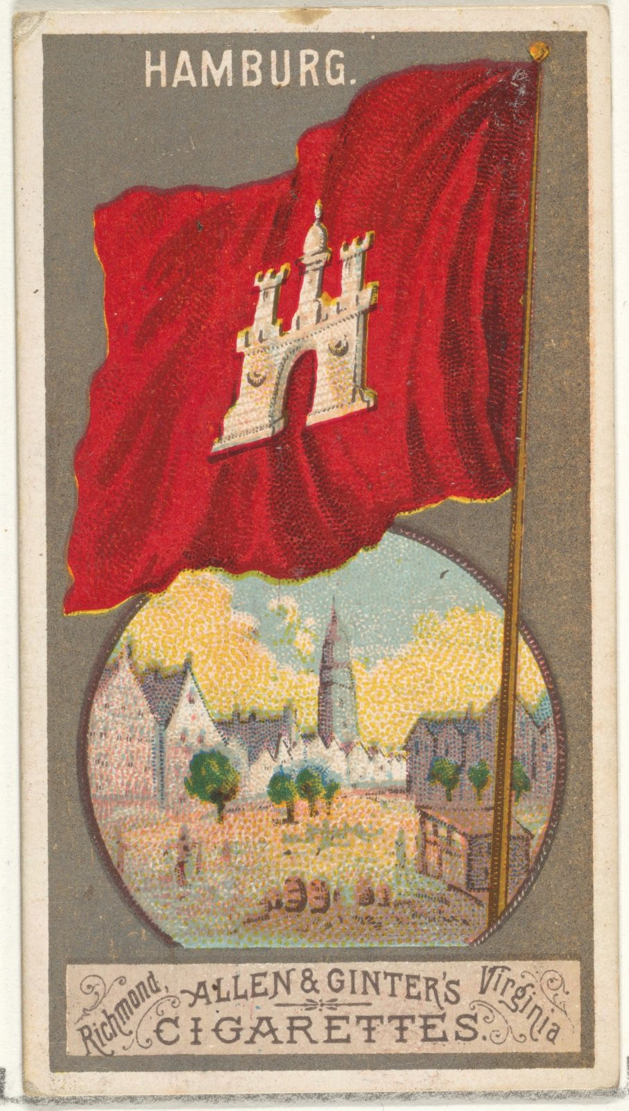 Hamburg, from the City Flags series (N6) for Allen & Ginter Cigarettes Brands