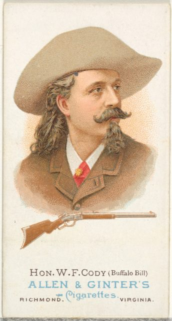 Hon. William Frederick Cody (Buffalo Bill), Rifle Shooter, from World's Champions, Series 1 (N28) for Allen & Ginter Cigarettes