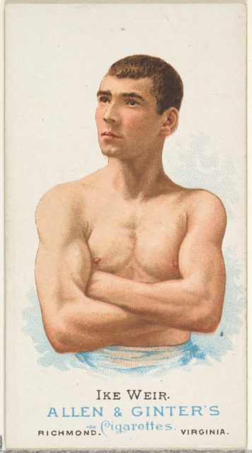 Ike Weir, Pugilist, from World's Champions, Series 1 (N28) for Allen & Ginter Cigarettes