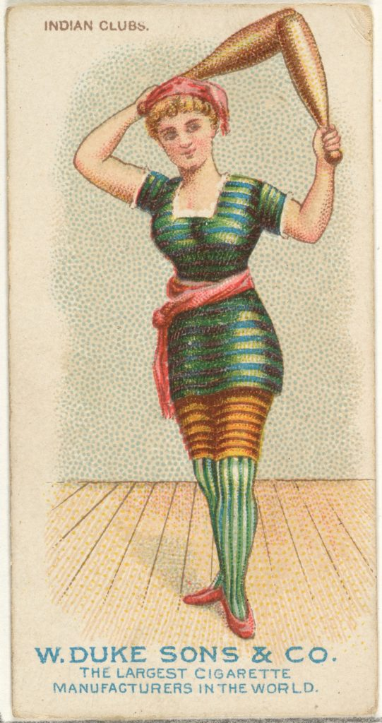Indian Clubs, from the Gymnastic Exercises series (N77) for Duke brand cigarettes