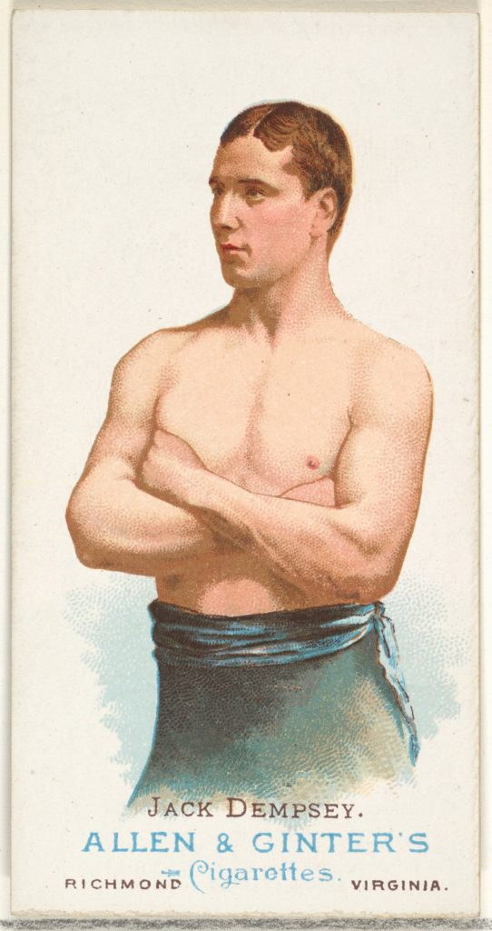 Jack Dempsey, Pugilist, from World's Champions, Series 1 (N28) for Allen & Ginter Cigarettes