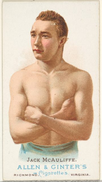 Jack McAuliffe, Pugilist, from World's Champions, Series 1 (N28) for Allen & Ginter Cigarettes