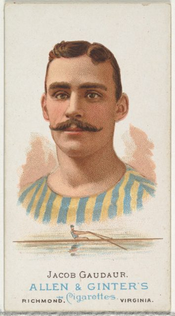 Jacob Gaudaur, Oarsman, from World's Champions, Series 1 (N28) for Allen & Ginter Cigarettes