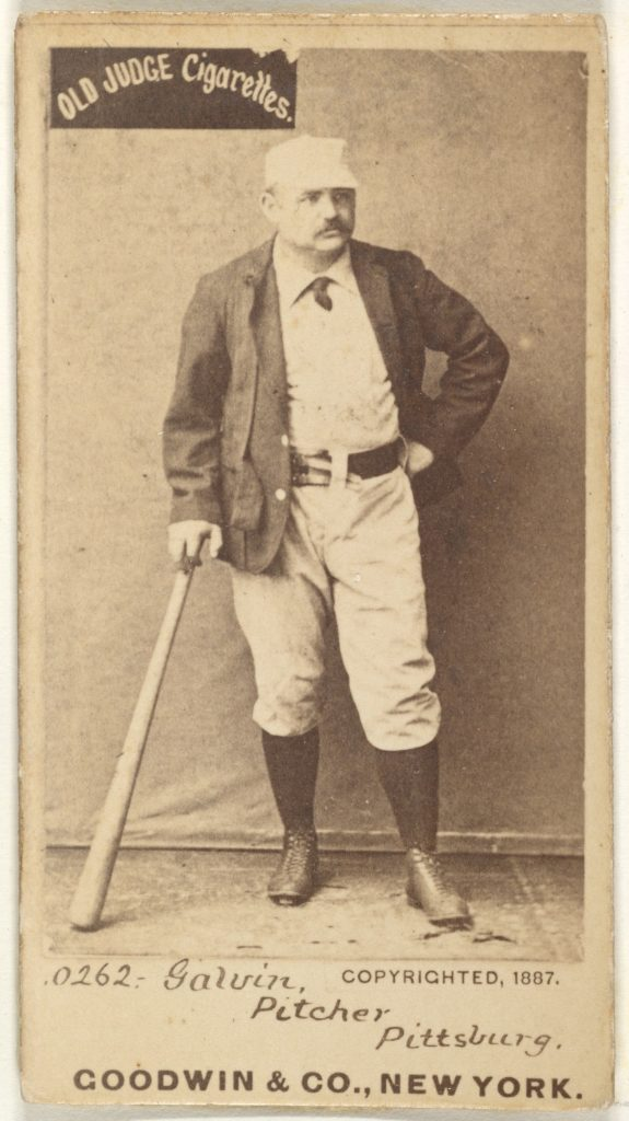 """James Francis """"Pud"""" Galvin, Pitcher, Pittsburgh, from the Old Judge series (N172) for Old Judge Cigarettes"""