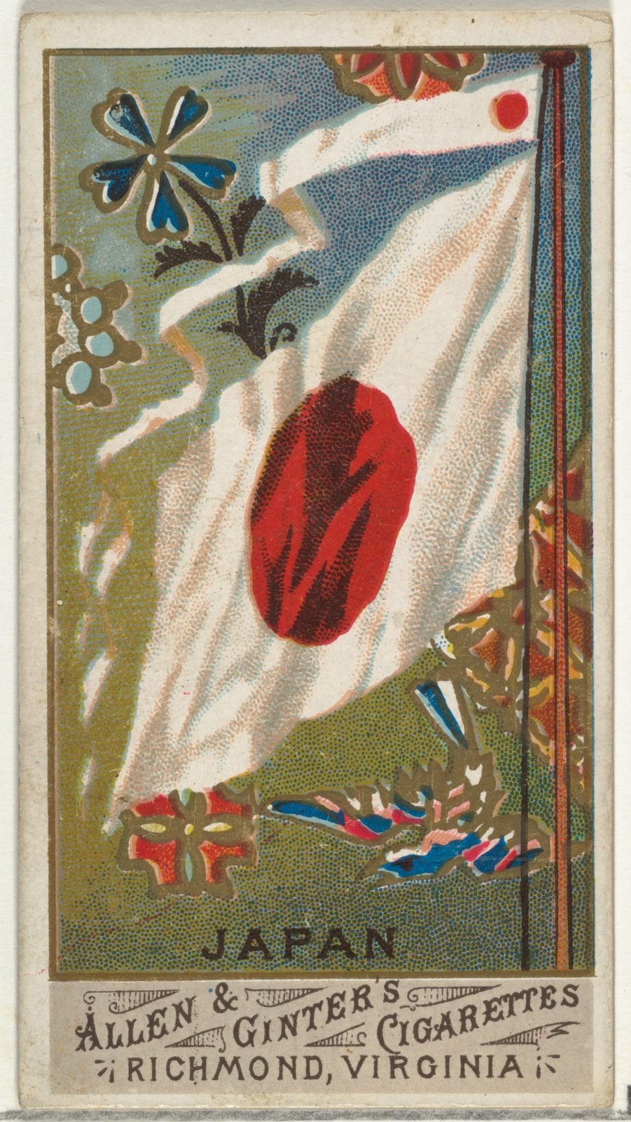 Japan, from Flags of All Nations, Series 1 (N9) for Allen & Ginter Cigarettes Brands