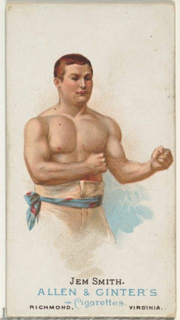 Jem Smith, Pugilist, from World's Champions, Series 1 (N28) for Allen & Ginter Cigarettes