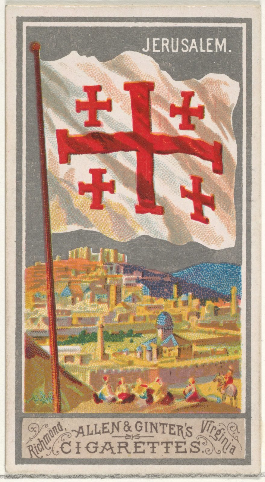 Jerusalem, from the City Flags series (N6) for Allen & Ginter Cigarettes Brands