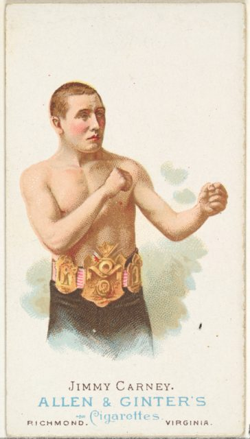 Jimmy Carney, Pugilist, from World's Champions, Series 1 (N28) for Allen & Ginter Cigarettes