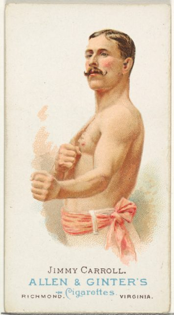 Jimmy Carroll, Pugilist, from World's Champions, Series 1 (N28) for Allen & Ginter Cigarettes