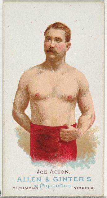 Joe Acton, Wrestler, from World's Champions, Series 1 (N28) for Allen & Ginter Cigarettes