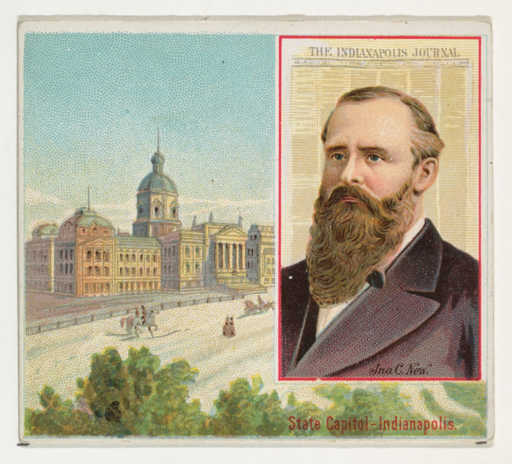 John C. New, The Indianapolis Journal, from the American Editors series (N35) for Allen & Ginter Cigarettes