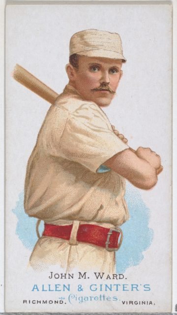 John M. Ward, Baseball Player, from World's Champions, Series 1 (N28) for Allen & Ginter Cigarettes